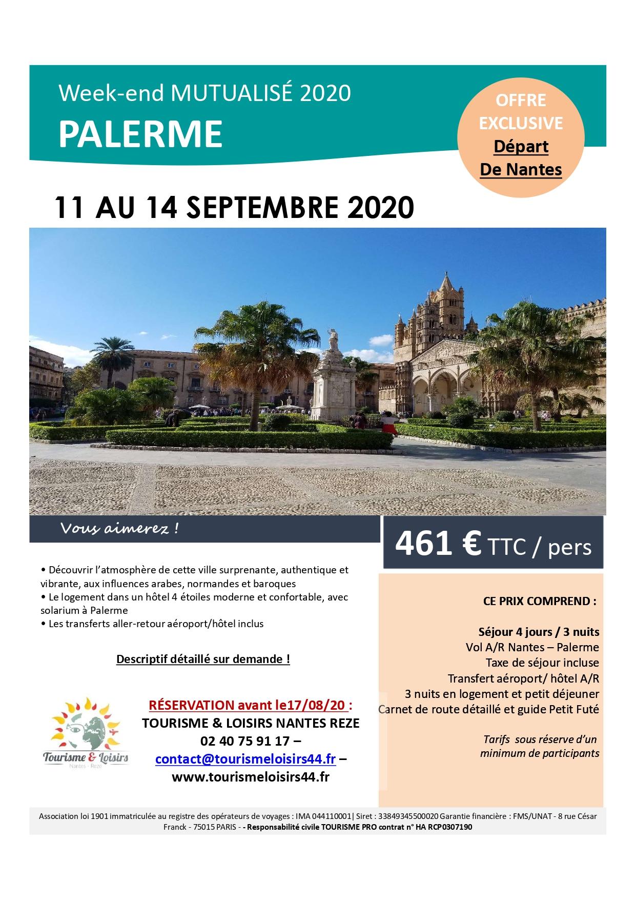 Sejour Palerme septembre 2020