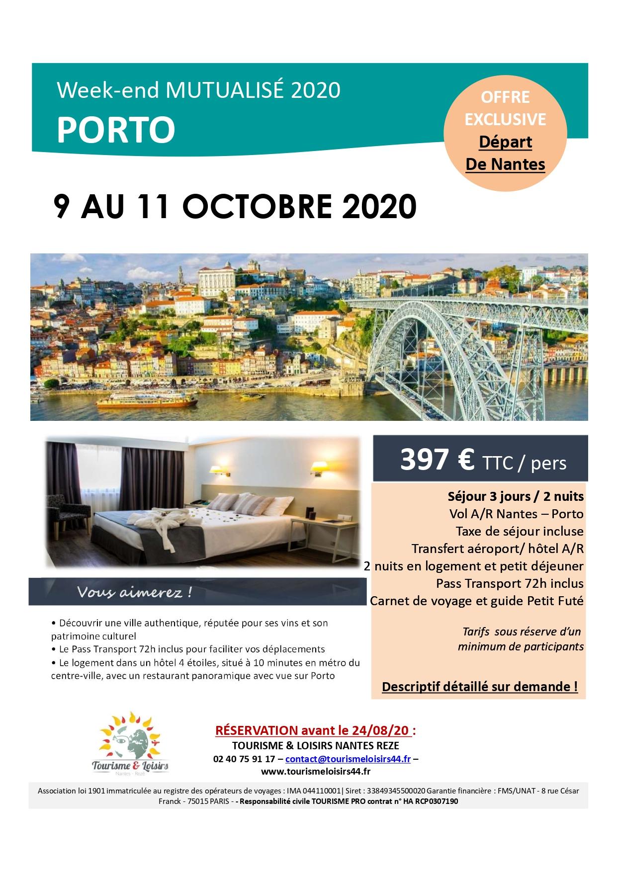 Affiche Porto octobre 2020