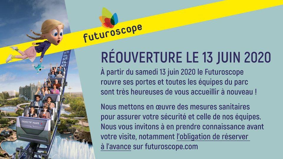 Reouverture Futuroscope
