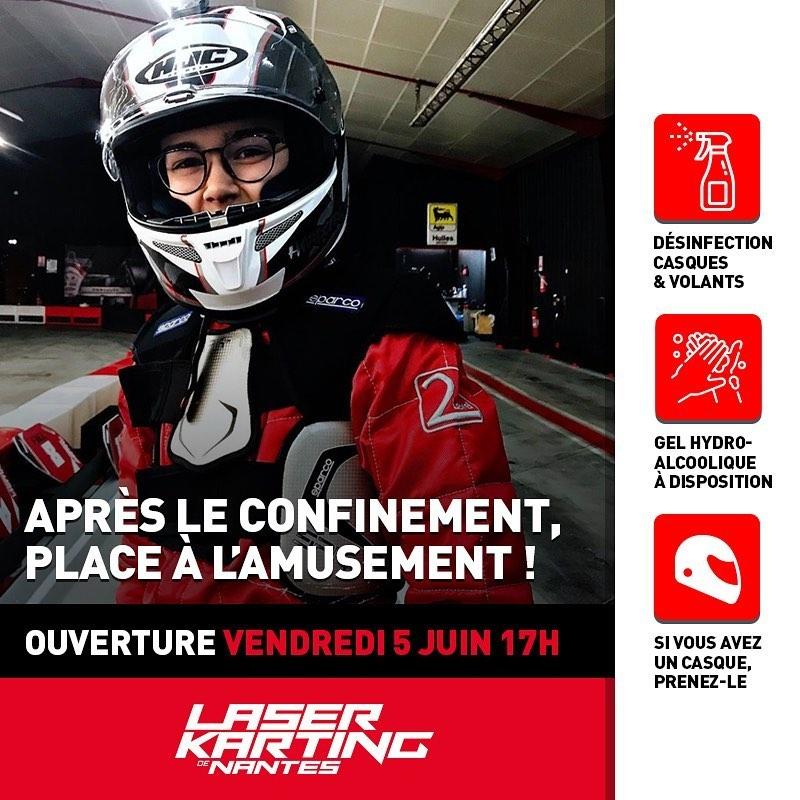 Reouverture Laser Karting Nantes